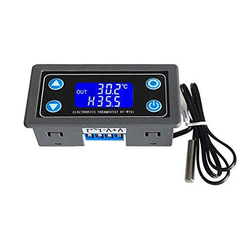 OGUAN Interruptor Termostato Digital Display Temperatura del módulo regulador de refrigeración de calefacción 6V12V24V Accesorios Ajustables