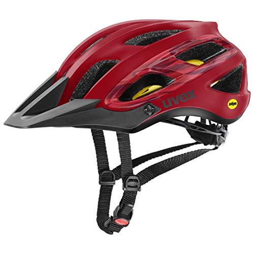 Uvex Unisex– Erwachsene, unbound Fahrradhelm, camo red black mat, 54-58 cm