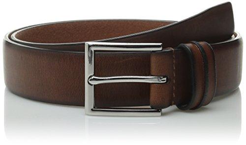 Cole Haan - Cinturón para hombre, 32 mm, borde de pluma, con detalles en lazo - Marrón - 36