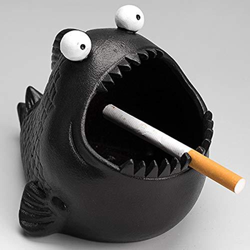Personalisierte Piranha Aschenbecher Niedliche Keramik Aschenbecher Dekoration Home Cartoon Tier Zigarette Aschenbecher Home und Outdoor Zigaretten Aschenbecher (16 * 12 * 8 cm,12,5 * 10 * 10 cm)