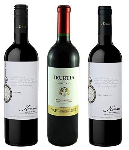 Atlantik Weine, Südamerika Einstiegspaket mit Rotwein aus Argentinien und Uruguay, Weinpaket mit Malbec Cabernet Sauvignon Syrah und Tannat (3 x 0,75l)