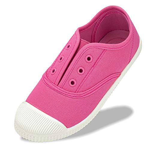 Mädchen Schuhe Jungen Sneaker Hausschuhe Turnschuhe Atmungsaktive Kinder Canvas Sportschuhe rutschfest Hallenschuhe Gr.22-34