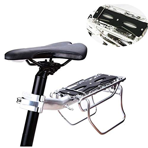 QWSA Rear Bike Rack Carrier For Panniers Bags Luggage Cargo 10Kg Load Aluminum Alloy Adjustable Mountain Bicycle Seat Shelf Holder Tailstock