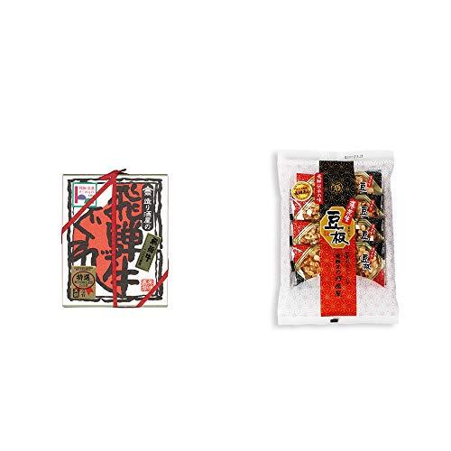 [2点セット] 天領酒造 飛騨牛100% 造り酒屋の飛騨牛しぐれ(80g)・飛騨銘菓「打保屋」の駄菓子 豆板(8枚入)