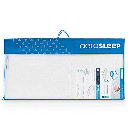 Aerosleep - Safe Sleep Pack Evolution - Colchón + Protector de colchón transpirable para cuna, medida: 60 x 120 cm