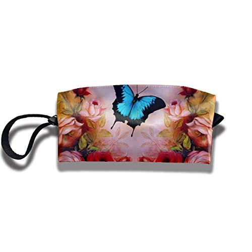 Butterfly Roses Receive Bag Handbag Storage Capacity Bags