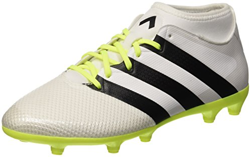 adidas Ace 16.3 Primemesh, Scarpe da Calcio Donna, Bianco (Ftwr White/Core Black/Solar Yellow), 42 2/3 EU