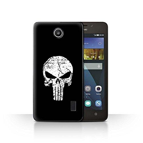 Hülle Für Huawei Y635 Antiheld Comic-Kunst Punisher Inspiriert Design Transparent Ultra Dünn Klar Hart Schutz Handyhülle Hülle