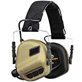 OPSMEN Electronic Shooting Noise Safety Earmuff Sound Amplification Protection Desert
