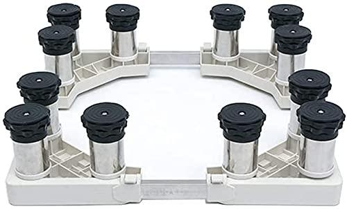 Ghongrm Máquina de Lavadora Universal Base Anti vibración Mute Frigorífico congelador Estante Ancho/Longitud 42-70 CM Plataforma de Trabajo Ajustable para secador Aumento del refrigerador Soporte de