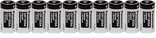 10 Panasonic CR123A 3V CR 123A Industrial Lithium Batteries