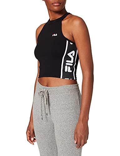 Fila Tama Cropped Camiseta sin Mangas, Negro, XS para Mujer