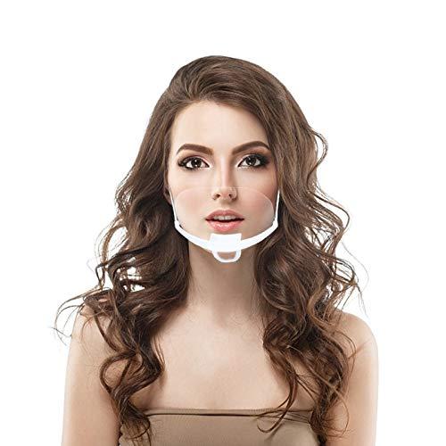10 Stück Transparent Gesichtsschild aus Kunststoff Schutzschild Schutzvisier Visier Anti-Saliva Anti-Fog Splash