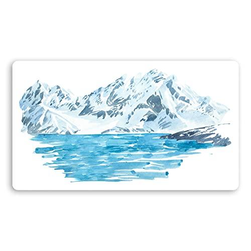 2 pegatinas de vinilo de 10 cm para acuarela, diseño de hielo glaciar #29993 (10 cm de ancho)