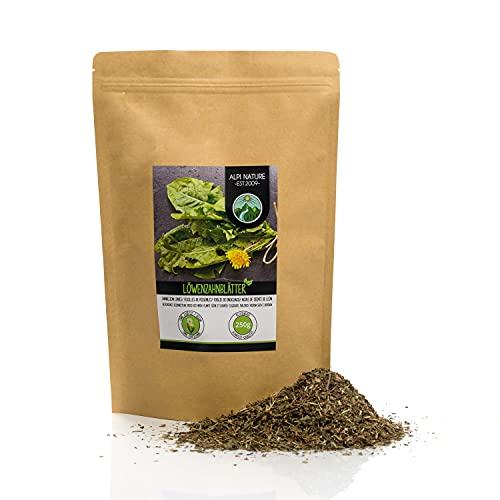 Tè di tarassaco (250g), foglie di tarassaco tagliate, Diente di leone, essiccate delicatamente, 100% pure e naturali per la preparazione di tè, tisane