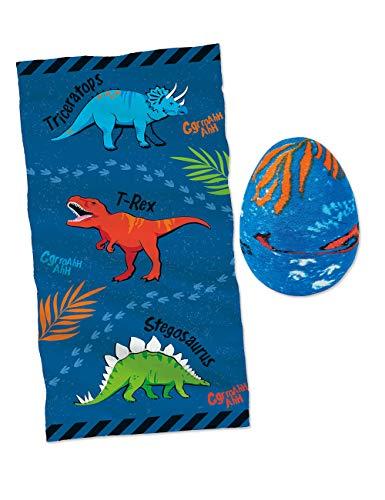 Moses 40214 Zauberhandtuch Dino-Ei | Cooles Handtuch für den Kindergeburtstag | 100% Baumwolle, Mehrfarbig