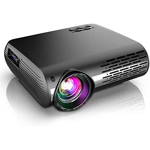 DOOK Proyector WiFi Bluetooth 1080P, 7500 Lúmenes Proyector WiFi Full HD 1080P Nativo Soporta 4K, Ajuste Digital de 4 Puntos, Proyector...