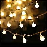luces de cadena led bola led luces de decoración navideña vacaciones navideñas luces para el hogar cadena de iluminación exterior Batería 6m60 leds