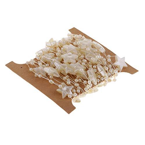 IPOTCH 5m Weiß Perlenband Perlenkette Perlengirlande Dekoschnur Tischdeko Hochzeit Party Basteln DIY Handwerk Hochzeit Deko