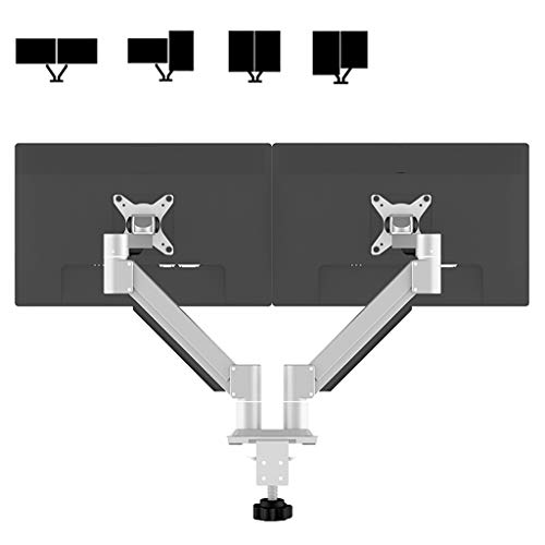 Dual Arm Monitor Stand, Universal Rotating telescopische Monitor Desk Mount - Past 15-30