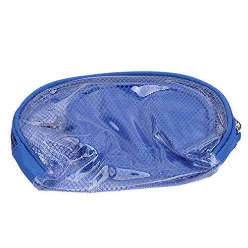 HENGSONG Sac de Maquillage 2Pcs Voyage en Sac Transparent PVC Imperméable Sacs de Cosmétique (Bleu)