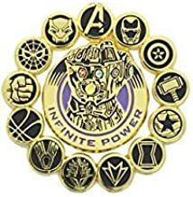 Marvel Avengers: Infinity War Official Infinity Gauntlet and Avengers Pin Set | Features Superhero Seals & Infinity Gauntlet | Set of 2