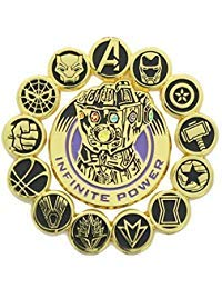 Marvel Avengers: Infinity War Official Infinity Gauntlet and Avengers Pin Set | Features Superhero Seals & Infinity Gauntlet | Set of 2