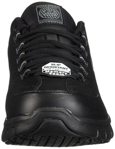 Skechers for Work Women's Sure Track Trickel Slip Resistant Work Shoe, Black, 10 XW US