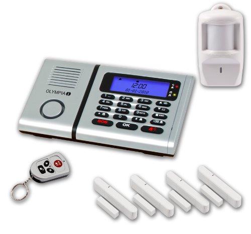 Olympia 5902 Protect 6060 Drahtlose Festnetz Alarmanlage mit Notruf und Freisprechfunktion, App Steuerung mit ProCom App, silber