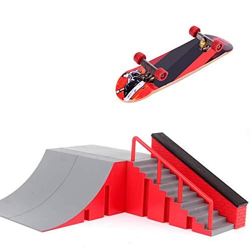 xiegons0 Finger Skateboard Park Set, Mini Rampe Set Skate Park Rampe Teile für Tech Brücke Finger Brett Finger Brett - B, Free Size