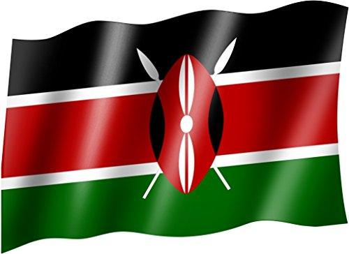 Sportfanshop24 Flagge/Fahne Kenia Staatsflagge/Landesflagge/Hissflagge mit Ösen 150x90 cm, sehr Gute Qualität