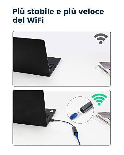 RAMPOW USB 3.0 Ethernet-Adapter, Gigabit LAN 10/100/1000 Mbit/s, USB A auf RJ45 Adapter für Windows 10/8/7/XP, Mac OS, Linux, kompatibel mit Switch, MacBook, des und mehr