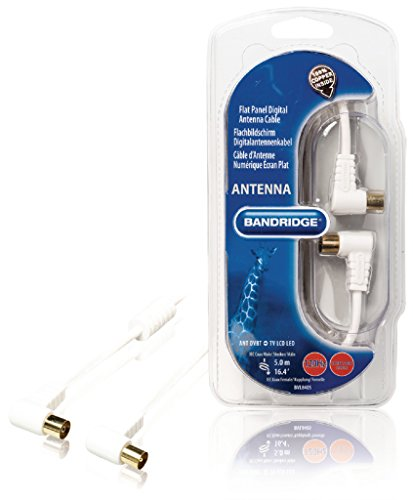 Bandridge BVL8405 Cable de antena digital, 120 dB, 5 m, Blanco