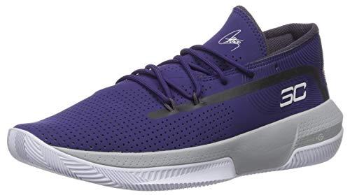 Under Armour Men's SC 3ZER0 III Basketball Shoe, Purple (500)/Mod Gray, 13