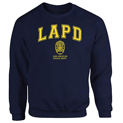 Tex-Ha LAPD Los Angeles Navy CSI California FBI Felpa Maglione Sweatshirt blu L