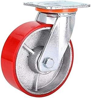 Heavy Duty plaat industriële metalen zwenkwielen lager belasting 500 lbs Mute voor grote meubels trolley flatbed karren gr...