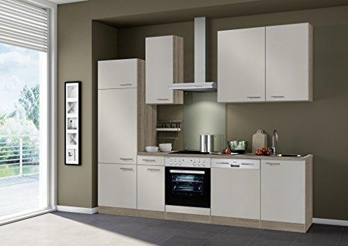 idealShopping Küchenblock mit Geschirrspüler und Ceranfeld Arta in sahara 270 cm breit