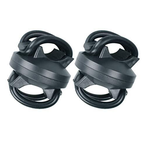 LIOOBO 2 Stücke Taschenlampe Halter 360 Grad Einstellbar Universal Fahrrad Taschenlampe Lampenhalterung Klemmständer Halter für Fahrrad Schwarz