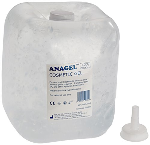 Anagel - Gel de transmisión de ultrasonidos para depilación IPL laser (5 L)