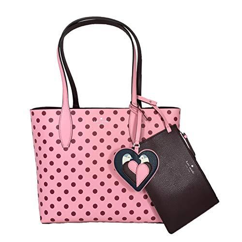 Kate Spade Love Birds Polka Dot Reversible Tote Bag, Pink Multi