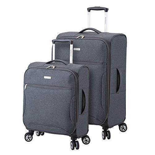 Regent Square Travel - Juego de equipaje extensible con ruedas Goodyear Spinner, funda blanda