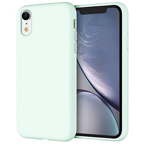 """JETech Funda de Silicona Compatible iPhone XR, 6,1"""", Sedoso-Tacto Suave, Cubierta a Prueba de Golpes con Forro de Microfibra, Espuma de mar"""