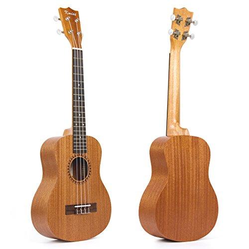 Kmise Ukulele Mahagoni Ukulele Uke 4 String 66 cm Hawaii Gitarre (26 Zoll Tenor)