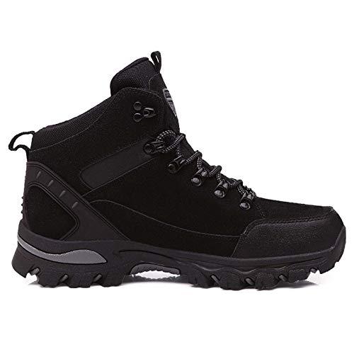 RTYUI Chaussures de sécurité, Hommes Chaussures de Travail avec Bout en Acier Chaussures Respirantes légères Chaussures de Protection sneakerBlack-45