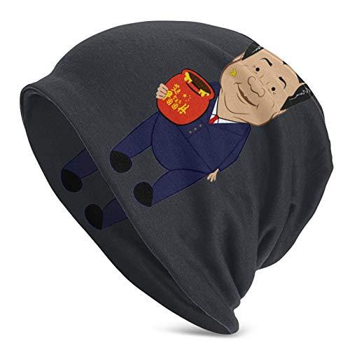 huatongxin XI Jinpooh Winnie The Pooh Prohibido en Chi Manténgase abrigado en otoño e Invierno Gorro de Punto para Hombres Adultos
