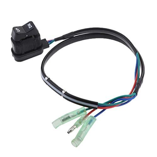 MHXY Brillo de Superficie 87-18286A2 Interruptor de Ajuste y inclinación para la Caja de Control Remoto Fuera de borda Marinero Fácil de Instalar