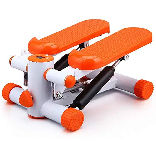 SHUILV Home Aerobic Ejercicio Twist Piedleper, Máquina Paso a Paso múltiple Mini Deportes Entrenador Cross Trainer Herramientas de conformación, para entrenados y Principiantes (Color : Orange)