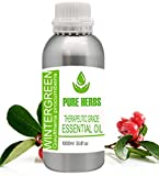 Pure herbs Wintergreen Pure & Natural Therapeutic Grade Gaultheria Procumbens Essential Oil Sets (1000ml- 33.81 oz)