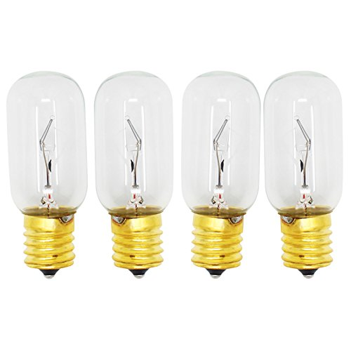 4-Pack Replacement Light Bulb for LG LMHM2237ST Microwave - Compatible LG 6912W1Z004B Light Bulb