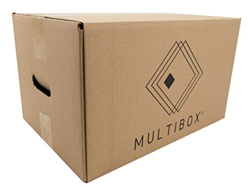 Pack 8 Cajas Cartón Mudanza y Almacenaje Con Asas Reforzado 51617 Resistente 430x300x250mm Fabricado En España diseño ergonómico Multiusos logística Mercancías Documentos Organizador Trastero